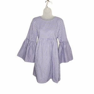 Urban Renewal NWOT gingham bell sleeve dress